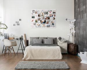 Easycollage inspiratie voor een fotocollage in de slaapkamer