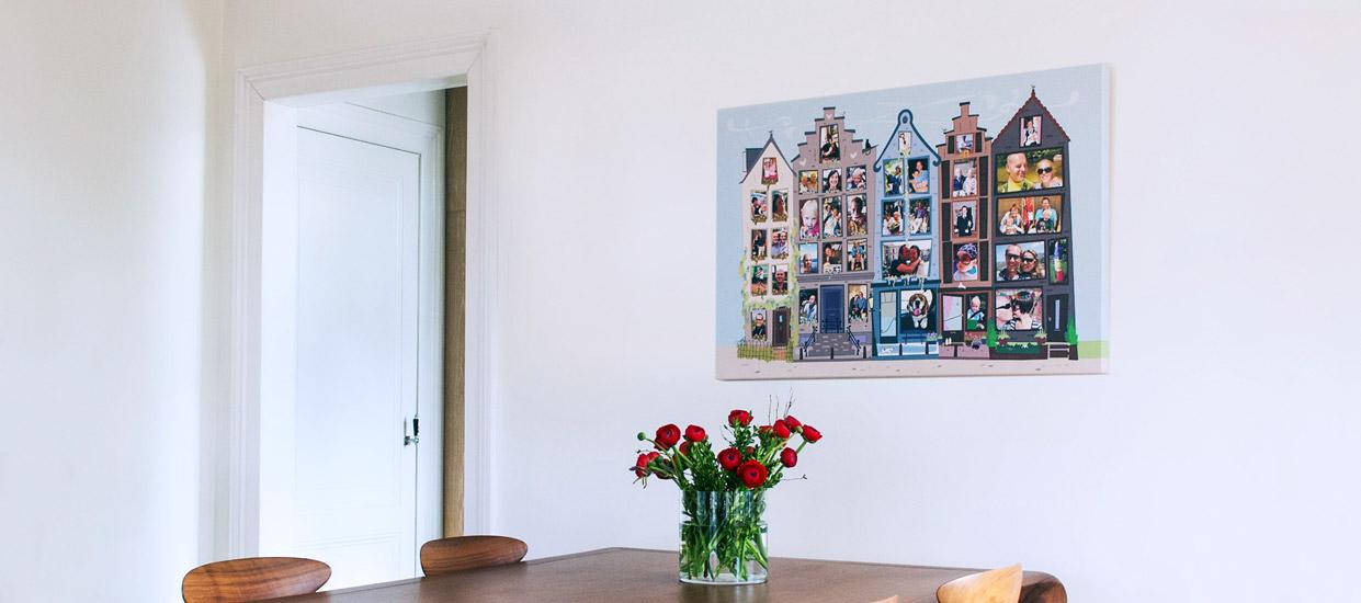 fotocollage op canvas easycollage. Black Bedroom Furniture Sets. Home Design Ideas