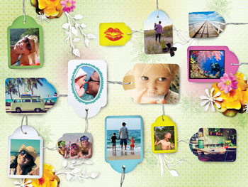 Fotocollage Labels