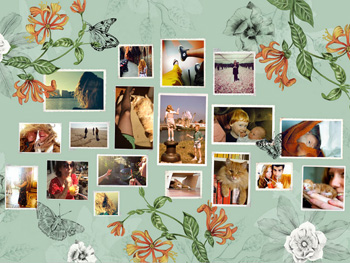 Fotocollage Flowers
